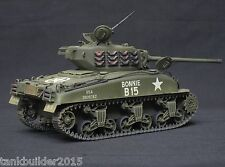 ITALERI SHERMAN M4A1  PRO BUILT AND  PAINTED 1/35 TAMIYA ACADEMY ITALERI