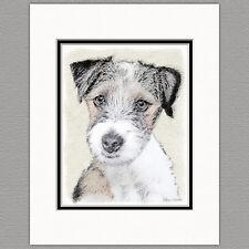 Russell Terrier Rough Dog Original Art Print 8x10 Matted to 11x14