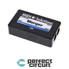 MIDI Solutions Merger 2x2 V2 MIDI Merger INTERFACE - NEW - PERFECT CIRCUIT