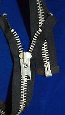 "116ZIPPERS USA VTG Jacket TALON #10Separating Metal ALUMINUM=21.5""DK.NAVY/COTTON"