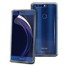 For Huawei Honor 8 - Tough Thin Clear TPU Gel Case Cover & Screen Guard