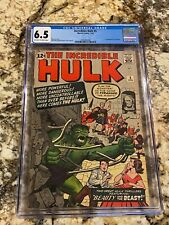 INCREDIBLE HULK #5 CGC 6.5 OW-WHITE PAGES HI END 1ST TYRANNUS MCU MOVIES INVEST