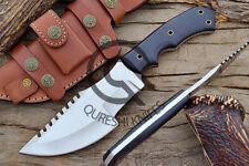 Custom Handmade D2 Steel Tracker Knife, Hunting Knife with Leather Sheath