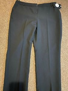BNWT Peacocks 14S Tapered Black Trousers