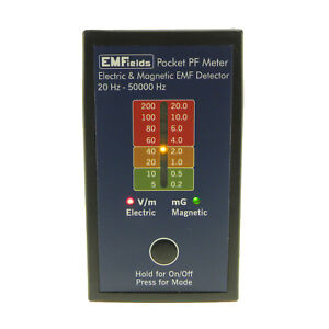 EMFields PF5 Pocket Electric Magnetic Field Detector EMF Meter Gaussmeter