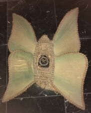 RARE Victorian Beaded Fringed Lampshade BUTTERFLY, ORIGINAL 90+ Yrs Old