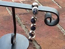 Sterling Silver Blue Lapis Link Bracelet 7.5 925 Mexico