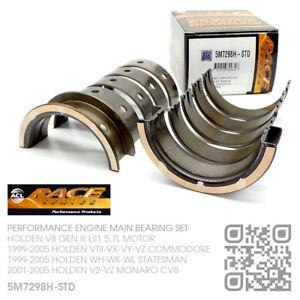 ACL RACE MAIN BEARINGS STD SIZE V8 GEN III LS1 5.7L HOLDEN WH-WK-WL STATESMAN