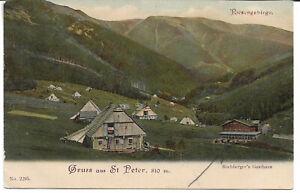 """AK St.Peter / Sv. Petr """" Gruss aus """" mit  Bachberger´s Gasthaus  Riesengebirge"""