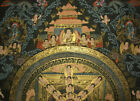 Schwarzgrund Thangka Mandala + Nepal Buddha Fine + Lots Of Gold 14 5/8x11in