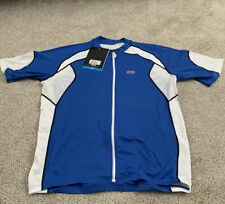 NEW LOUIS GARNEAU MENS PALOMAR JERSEY XL EXTRA LARGE AIRDRY MESH WHITE BLUE