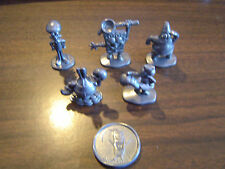 Nick SpongeBob Squarepants Monopoly Pewter Game Tokens - Lot of 5 with coin
