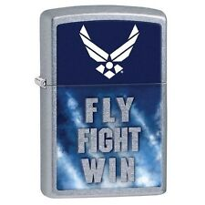 Zippo 29383 United States Air Force Fly Fight Win Street Chrome Lighter