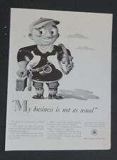 Original 1941 Print Ad BELL TELEPHONE SYSTEMS Man Repair Business Not As Usual