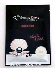 x6 My Beauty Diary Black Pearl Optimal Brightening &Hydrating Masks, UK Seller