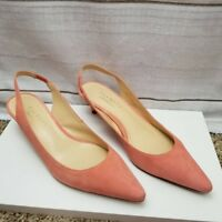 Talbots Womens Slingbacks Heels Pumps Shoes Slipon Pointed Leather sz 7.5