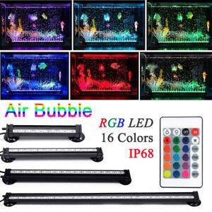 LED Air Stone Bubble Bar Curtain Aquarium Fish Tank Light RGB Colour Waterproof