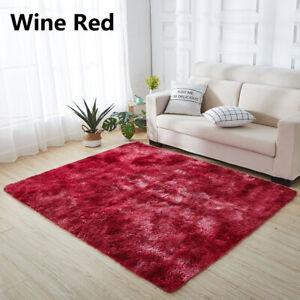 Fluffy Large Rugs Anti-Slip Soft Carpet Mat Floor Living Room Bedroom Rug Soft
