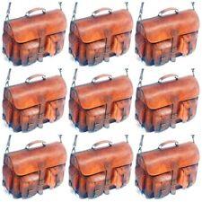 Men's Genuine Vintage Brown Leather Messenger Bag Shoulder Laptop Bag Briefcase5