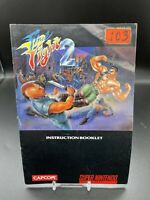 Final Fight 2 Super Nintendo SNES Instruction Manual Booklet ONLY