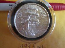 2 oz .999 Silver Privateer  Siren Ultra High Relief  Silver round bullion