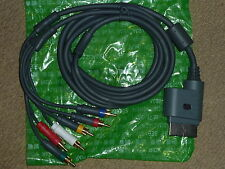 MICROSOFT XBOX 360 OFFICIAL COMPONENT HD AV CABLE NEW! Genuine Lead TV Adapter