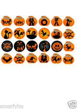 HALLOWEEN PARTY 24 CupCake  Toppers Ricer Paper DiY DecorationS