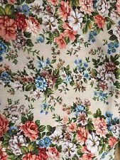 """Vintage années 1970 Polyester Knit Floral Tissu 64"""" """"de large x 4.5 m long + Pièce"""