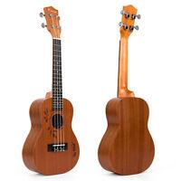 Kmise 23 Inch Concert Ukulele Uke Acoustic Hawaiian Hawaii Guitar 18 Fret Sapele