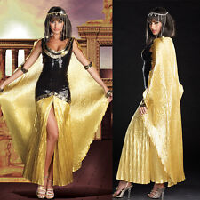 Ladies Cleopatra Egyptian Goddess Roman Fancy Dress Halloween Costume Outfit