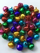 BB 14mm CHRISTMAS BELLS - SHINY MIXED COLOURS pack of 25 jingle craft