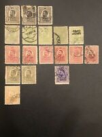 ROMANIA 1908 King Carol I - Lot Of 18 Used Stamps