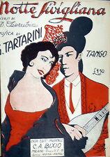 SPARTITO NOTTE SIVIGLIANA  TANGO  1925  ITALY - MANDOLINO - TESTO