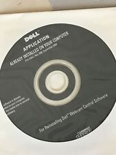 Dell Reinstallation CD Sealed -NEW Reinstall Dell Webcam Central Software