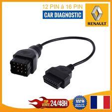 Câble connecteur Diagnostique OBDII OBD2 12 broches vers 16 broches Pour Renault