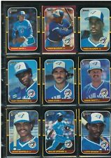 1987 DONRUSS TORONTO BLUE JAYS FRED MCGRIFF 2 ROOKIE CARDS + 26 LOT NR-MINT/MINT