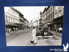 Vintage Germany Vacation Photo Shopping District Bicycles Neat Scene