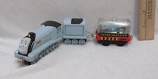 Thomas & Friends Train Spencer Engine & Tender And Sodor Shark Tank Car Lot Of 3