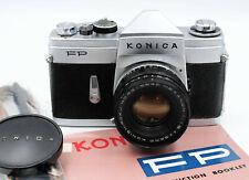 Konica FP W/ Hexanon 52mm f/1.8 Lens, Shoulder Strap & Manual