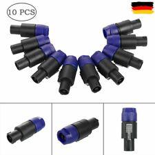 10x Neutrik NL4FX Speakon Stecker 4 Polig Speakonstecker Lautsprecherkabel Set
