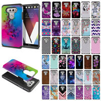 For LG V20 VS995 H990 LS997 H910 H918 US996 Design Hybrid Silicone Case Cover