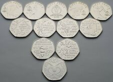 Every Isle of Man 50p coin issued in 2019 - Uncirculated
