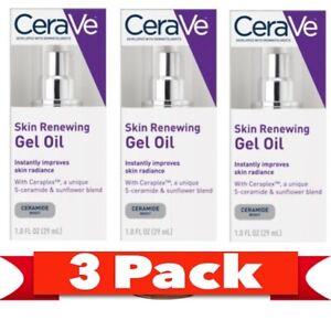 CeraVe  Skin Renewing Gel Oil 1.0 FL OZ  ( 3 PACK )