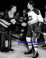 Maurice Richard Sugar Jim Henry Classic Warriors Handshake Photo 11x14 B/W !!