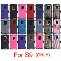 For Samsung Galaxy S9 Defender Case(with Belt Clip Fits Otterbox)