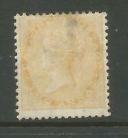 INDIA SG43 THE SCARCE 1863 2as YELLOW MINT (HINGE THIN) CAT £1300