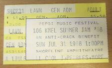 1988 Ll Cool J Pebbles Keith Sweat Fat Boys Expose San Fran Concert Ticket Stub