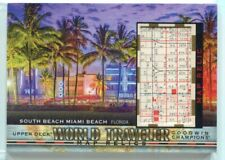 2019 Upper Deck Goodwin Champions World Traveler Maps 166 South Beach Miami G