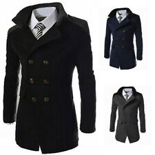 Jacket Breasted Winter Double Long Overcoat Mens Coat Trench Outwear Wool Warm
