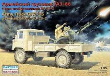 1/35 Soviet / Russian Army Truck GAZ-66 with antiaircraft gun ZU-23-2 model kit